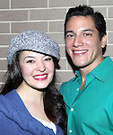 Manna Nichols & Nicholas Rodriguez backstage after a performance in the Arena Stage Production of 'My Fair Lady' at the Mead Center in Washington, D.C. on November 30, 2012.