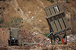 "An Iron Dome battery, a short-range missile defense system, just outside Tel Aviv, Israel, Tuesday,July. 8, 2014. Israel launched a major military offensive against the Gaza Strip early 08 July 2014 in response to increasing rocket attacks by Palestinian militants. The Israel Air Force bombed about 50 targets overnight, military spokesman Peter Lerner said. He warned that Israel would gradually increase the ""quantity and quality"" of its targets, stepping up pressure. Photo By: JINIPIX"