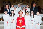 Pupils from Glounaguillagh NS, Caragh Lake with Bishop Ray Browne at their Confirmation in St James church, Killorglin on thursday front row l-r: Aaron O'Sullivan, Louise Hearne, Tiarnach O'Shea, Zara Foley, Gavin Joy. Back row: Linda Galvin teacher, Oisin Lernihan-Bolt, Niall Fenton-Toms, Callum Moriarty, Melanie Sugrue, Jack O'Sullivan-Mahony and Fr Michael Fleming