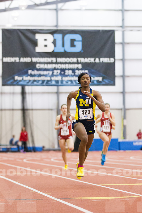 2/27/2015 Women's track and field and Big Ten Indoor Track and Field Championships.