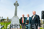 Comoraoh 1916 Centenary Commemoration Captain Jack O'Reilly by the Tralee Irish Volunteer Group at Old Rath on Sunday Pictured Tom McGarth, vice president IRB, Richard Behal, Billy McGuire, President of the Irish Republican Brotherhood