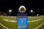 GREENSBORO, NC - DECEMBER 02: A general view of the game ball before the Division III Men's Soccer Championship held at UNC Greensboro Soccer Stadium on December 2, 2017 in Greensboro, North Carolina. Messiah College defeated North Park University 2-1 to win the national title. (Photo by Grant Halverson/NCAA Photos via Getty Images)