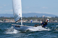 Laser/ Filip JURI&Scaron;IC (CRO)<br /> ISAF Sailing World Cup Final - Melbourne<br /> St Kilda sailing precinct, Victoria<br /> Port Phillip Bay Wednesday 7 Dec 2016<br /> &copy; Sport the library / Jeff Crow
