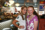 One Life To Live's Kristen Alderson poses with fan Caitlin at her annual Fan Gathering on August 16, 2009 at Big Daddy's Diner, New York City, New York. Great time. (Photo by Sue Coflin/Max Photos)