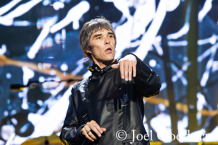 © Joel Goodman - 07973 332324 . 30/06/2012 . Manchester , UK . IAN BROWN performs at the Stone Roses Second Coming reunion gig at Heaton park in North Manchester . Photo credit : Joel Goodman