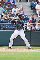 Arturo Nieto (24) of the Everett Aquasox at bat during a game against the Hillsboro Hops at Everett Memorial Stadium in Everett, Washington on July 5, 2015.  Hillsboro defeated Everett 11-4. (Ronnie Allen/Four Seam Images)