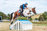 Sam Doak rides Mr Fahrenheit during the Cross Country for Class 1B NZPCA 1.05m. Final-1st. 2019 NZL-Hunua Pony Club 2DE. Proudly Sponsored by Golden Horse Feeds and Christophe Pallies. Sunday 3 February. Copyright Photo: Libby Law Photography