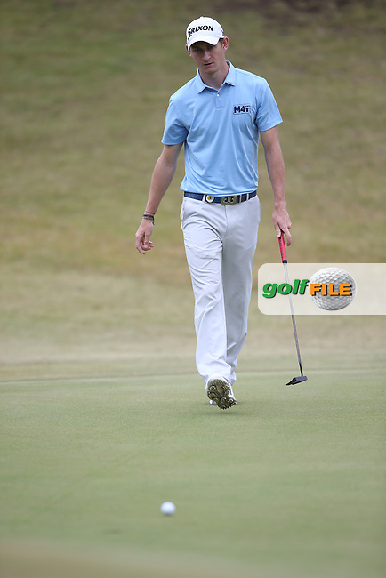 Tom Murray (ENG) putts for birdie on the 5th during Round Two of the Africa Open 2015 at the East London Golf Club, East London, Eastern Cape, South Africa. Picture:  David Lloyd / www.golffile.ie. 06/03/2015