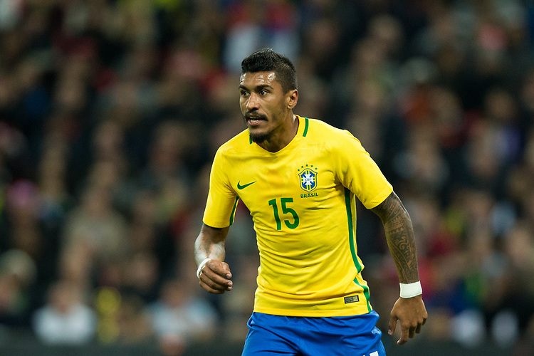 Brazil&rsquo;s Paulinho <br /> <br /> Photographer Craig Mercer/CameraSport<br /> <br /> The Bobby Moore Fund International - England v Brazil - Tuesday 14th November 2017 Wembley Stadium - London  <br /> <br /> World Copyright &copy; 2017 CameraSport. All rights reserved. 43 Linden Ave. Countesthorpe. Leicester. England. LE8 5PG - Tel: +44 (0) 116 277 4147 - admin@camerasport.com - www.camerasport.com