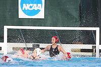 10 May 2008: Stanford Cardinal Amber Oland during Stanford's 10-6 loss against the USC Trojans in the National Collegiate Women's Water Polo Tournament semifinal game at Avery Aquatic Center in Stanford, CA.