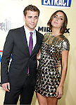 "HOLLYWOOD, CA. - August 24: Dustin Milligan and Jessica Stroup arrive at the Los Angeles premiere of ""Extract"" at the ArcLight Hollywood on August 24, 2009 in Hollywood, California."