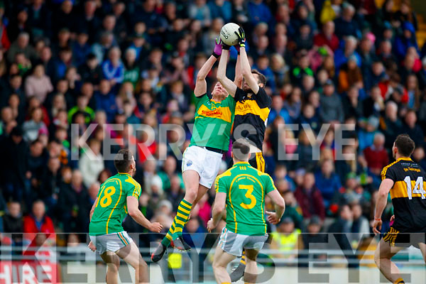 Paul Clarke  Dr Crokes in action against Denis Daly South Kerry in the Senior County Football Final in Austin Stack Park on Sunday
