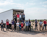 The University of Washington reacts after it's team rocket launch at the Spaceport America Cup near the town of Truth or Consequences, New Mexico, Friday, June 23, 2017. The International Intercollegiate Rocket Engineering Competition hosted over 110 teams from colleges and universities in eleven countries. Students launched solid, liquid, and hybrid rockets to target altitudes of 10,000 and 30,000 feet. The 2017 Spaceport America Cup winner was the University of Michigan, Ann Arbor, Team 79.<br /> <br /> Photo by Matt Nager
