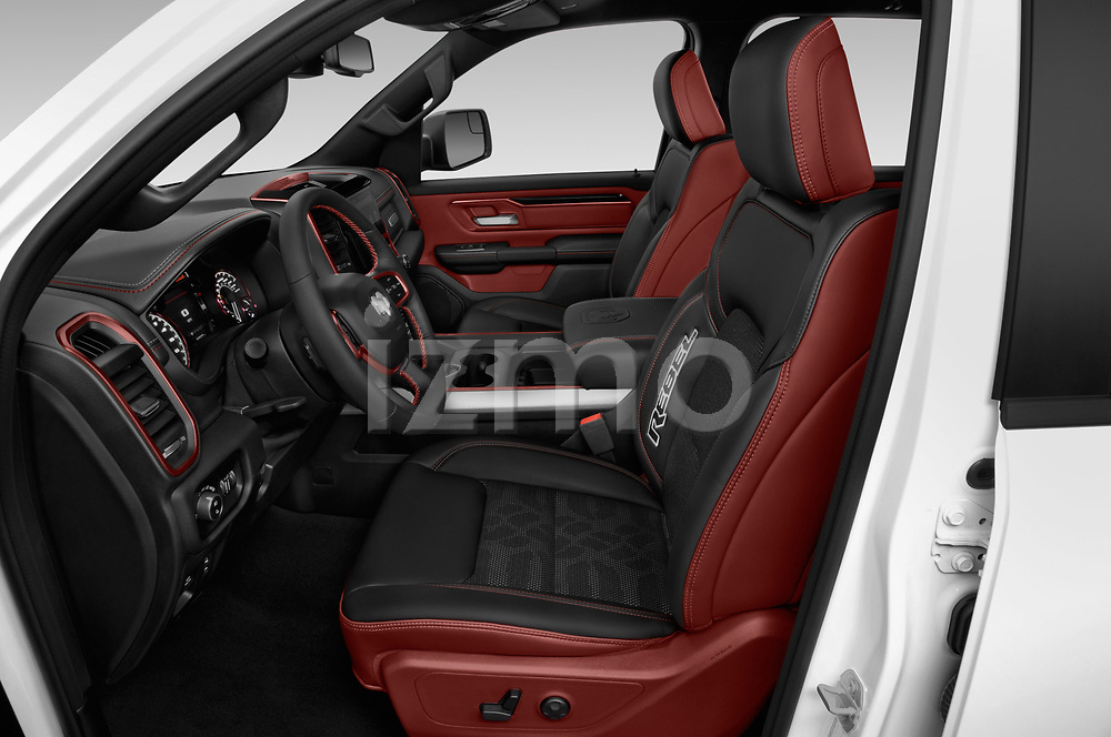 Front seat view of a 2019 Ram 1500 Rebel 4 Door Pick Up front seat car photos
