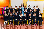 Adrienne Heaslip's class of Junior Infants in Caherlaheen National School, Tralee on Thursday.<br /> Back left to right- Kacper Urbanowicz, Taylor O' Leary, Donnacha Foley, Ruair&iacute; O' Callaghan, Ms. Adrienne Heaslip, Holly Long, Liam Costello, Ryan Hanafin O' Meara, Tomos Finucane.<br /> Middle left to right- Eric Reed, Marcelina Nadoloka, Suzann Szelag, Aebh&iacute;n Ryan, Aoibhinn Cronin, David Loughran, Dylan Healy, Kacey Flannery, Nathan Krajnak.<br /> Front left to right- Hannah O' Sullivan, Emma O' Brien, Jennifer Scannell, R&oacute;is&iacute;n Morris, Noah Foley, Lucey Morrison, Aaron Griffin, Cillian Hickey.
