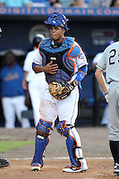 St. Lucie Mets catcher Francisco Pena #11 during a game against the Charlotte Stone Crabs at Digital Domain Ballpark on June 20, 2011 in Port St Lucie, Florida.  St. Lucie defeated Charlotte 3-2 in 11 innings.  (Mike Janes/Four Seam Images)