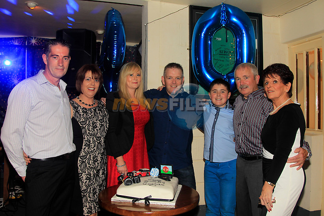 Graham Smith with family and friends at his 40th Birthday<br /> Picture: www.newsfile.ie
