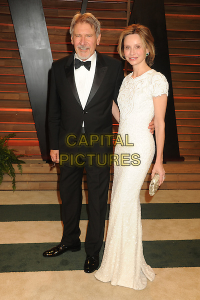 WEST HOLLYWOOD, CA - MARCH 2: Harrison Ford, Calista Flockhart at the 2014 Vanity Fair Oscar Party in West Hollywood, California on March 2, 2014. <br /> CAP/MPI/mpi20<br /> &copy;mpi01/MediaPunch/Capital Pictures
