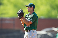 Augusta GreenJackets starting pitcher Christian Jones (23) looks to his catcher for the sign against the Hickory Crawdads at L.P. Frans Stadium on May 11, 2014 in Hickory, North Carolina.  The GreenJackets defeated the Crawdads 9-4.  (Brian Westerholt/Four Seam Images)