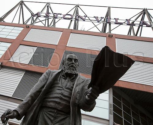 02.04.2016. Villa Park, Birmingham, England. Barclays Premier League. Aston Villa versus Chelsea.  Statue of William Mc.Gregor, Founder of the Football League outside Villa Park, home of Aston Villa Football Club.