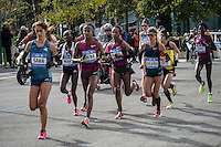 Elite Runners attend the 29th New York City Marathon on November 02,2014.