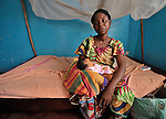 In a clinic of the United Methodist Church in Kananga, a town in the Democratic Republic of the Congo, Alphonsine Odia cares for her newborn girl.