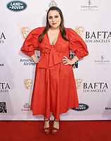 04 January 2020 - Beverly Hills, California - Beanie Feldstein. The 2020 BAFTA Los Angeles Tea Party held at Four Seasons Los Angeles . Photo Credit: Birdie Thompson/AdMedia