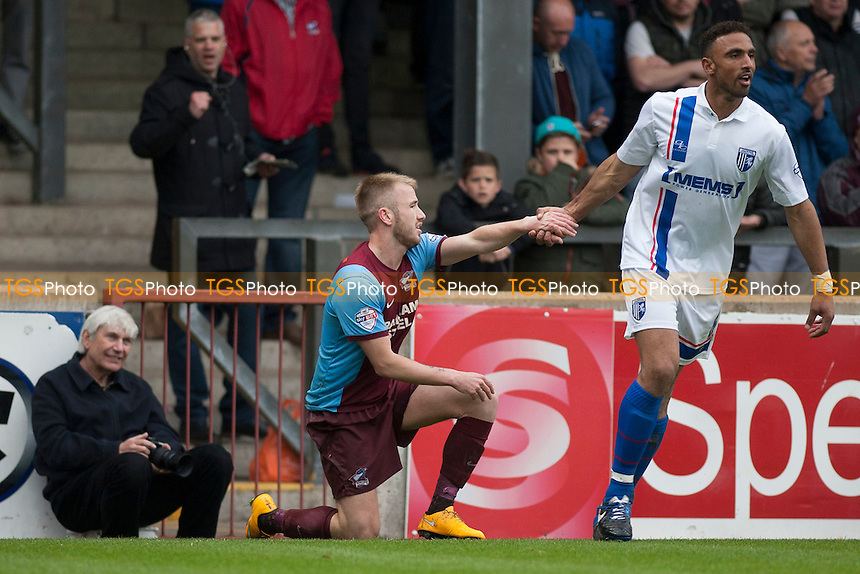 Paddy Madden of Scunthorpe United<br />  - Scunthorpe United vs Gillingham - Sky Bet League One Football at Glanford Park, Scunthorpe, Lincolnshire - 25/04/15 - MANDATORY CREDIT: Mark Hodsman/TGSPHOTO - Self billing applies where appropriate - contact@tgsphoto.co.uk - NO UNPAID USE