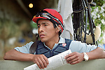 Jockey Edgar Prado at Saratoga. Saratoga Race Course, Saratoga Racetrack, beautiful horse racing, Thoroughbred racing, horse, equine, racehorse, morning mood