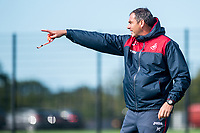 Manager of Swansea City, Paul Clement reacts during the Swansea City training session at The Fairwood training Ground, Swansea, Wales, UK. Wednesday 13 September 2017