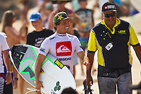 SNAPPER ROCKS, Queensland/Australia (Sunday, 26 February, 2012) Yadin Nichol (AUS).– The Quiksilver Pro Gold Coast presented by Land Rover, the opening stop on the 2012 ASP World Championship Tour, was back on today with the elimination Round 2 completed in clean three-to-four foot (1 metre) conditions at Snapper Rocks. . .Jordy Smith (ZAF), 24, came flying out of the gates in his this afternoon, scoring an 8.33 (out of a possible 10) and a 9.10 on his opening two waves. Smith surfed smooth and fast to eliminate veteran powerbroker Taylor Knox (USA), 40.. .Joel Parkinson (AUS), 30, 2011 ASP World Runner-Up, was back to winning form today after a shock Round 1 loss at his home break yesterday. Parkinson eliminated trials' winner and runner-up to the 2011 ASP World Junior Title Garrett Parkes (AUS), 20, in a one-sided affair. .Photo: joliphotos.com