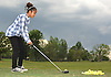 Jasmine Arroyo, 14, of Lawrence, works on her golf swing at the driving range of Lawrence Yacht and Country Club on Tuesday, June 7, 2016.