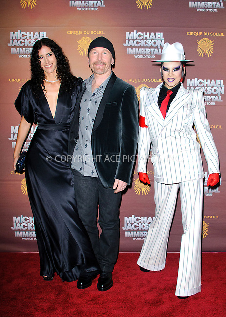 WWW.ACEPIXS.COM....US Sales Only....October 12 2012, London....Morleigh Steinberg and The Edge at the European premiere of 'Michael Jackson: The Immortal World Tour' at the O2 Arena on October 12 2012  in London....By Line: Famous/ACE Pictures......ACE Pictures, Inc...tel: 646 769 0430..Email: info@acepixs.com..www.acepixs.com