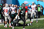 North Texas Mean Green linebacker Zach Orr (35) in action during the Heart of Dallas Bowl game between the North Texas Mean Green and the UNLV Rebels at the Cotton Bowl Stadium in Dallas, Texas. UNT defeats UNLV 36 to 14.