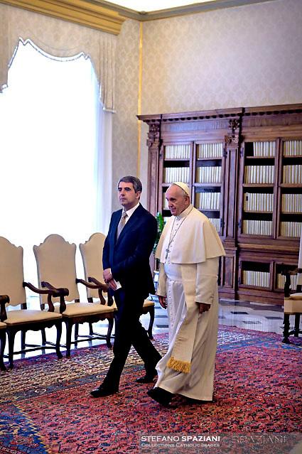 Pope Francis meets President of Bulgaria Rossen Plevneliev, Vatican, Italy - 16 May 2016
