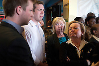 Local Conservative party activists at an election campaign event in Dagenham, East London.