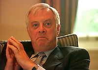 180697: PATTEN HONG KONG<br /> <br /> The Last Governor of Hong Kong, Chris Patten during an interview with the LA times in hong Kong.
