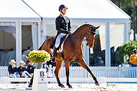 NZL-James Avery rides Mr Sneezy during the second day of Dressage for the CCI5*-L. Les 5 Etoiles de Pau. Pyrenees Atlantiques. France. Friday 25 October. Copyright Photo: Libby Law Photography
