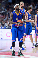 Khimki Moscow's Tyrese Rice during Euroleague match at Barclaycard Center in Madrid. April 07, 2016. (ALTERPHOTOS/Borja B.Hojas) /NortePhoto