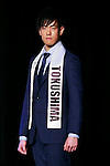 Mister Tokushima, Tsuyoshi Ohno, competes in the finals of Mister Japan 2016 at Hotel Chinzanso Tokyo on March 1, 2016, Tokyo, Japan. Masaya Yamagishi from Kanagawa was elected Mister Japan 2016, and will compete in the next edition of Mister International. (Photo by Rodrigo Reyes Marin/AFLO)