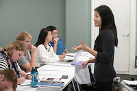 Professor Jane Hong teaches history, Johnson Hall, Oct. 28, 2015.<br />