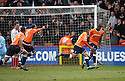 Matthew Barnes-Homer of Luton turns away after scoring the winning goal  during the  Blue Square Premier match between Stevenage Borough and Luton Town at the Lamex Stadium, Broadhall Way, Stevenage on Saturday 3rd April, 2010..© Kevin Coleman 2010 .