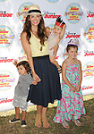 Ali Landry and Kids arriving at Pirate and Princess: Power Of Doing Good, held at Brookside Park Pasadena, Ca. on August 16, 2014.