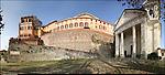 Azeglio (To). Paese che fa parte degli intinerari dei luoghi del Risorgimento. Nella foto Casetllo-palazzo di Azeglio e chiesa di San Martino.