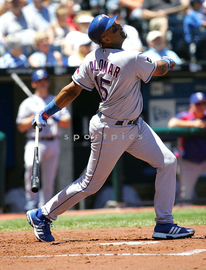 Sandy Alomar, of the Texas Rangers , in action against the Kansas City Royals on June 5, 2005...Rangers win 8-1...Dilip Vishwanat / SportPics
