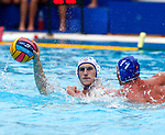 Ivan Suchkov in action during game between Russia  against Slovakia  LEN European Water Polo Championships, Barcelona 16.07.2018