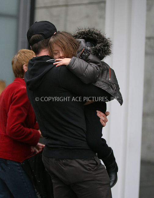 WWW.ACEPIXS.COM . . . . . ....November 18 2009, New York City....Actor Hugh Jackman carries his daughter Ava home from school to their home in the West Village on November 18 2009 in New York City....Please byline: PHILIP VAUGHAN - ACE PICTURES.... *** ***..Ace Pictures, Inc:  ..Philip Vaughan (212) 243-8787 or (646) 679 0430..e-mail: info@acepixs.com..web: http://www.acepixs.com