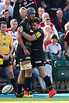 Saracens' Alistair Hargreaves scoring his sides 2nd try with Saracens' Ben Ransom - Rugby Union - 2014 / 2015 Aviva Premiership - Saracens vs. Gloucester - Allianz Park Stadium - London - 11/10/2014 - Pic Charlie Forgham-Bailey/Sportimage