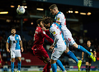 Blackburn Rovers' Darragh Lenihan (right) heads at goal <br /> <br /> Photographer Andrew Kearns/CameraSport<br /> <br /> The EFL Sky Bet Championship - Blackburn Rovers v Nottingham Forest - Tuesday 1st October 2019  - Ewood Park - Blackburn<br /> <br /> World Copyright © 2019 CameraSport. All rights reserved. 43 Linden Ave. Countesthorpe. Leicester. England. LE8 5PG - Tel: +44 (0) 116 277 4147 - admin@camerasport.com - www.camerasport.com