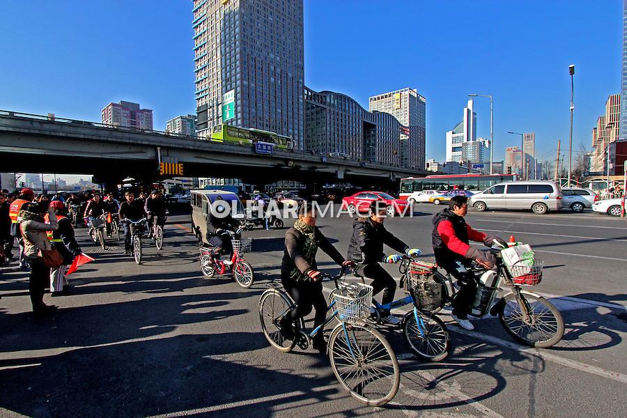Transporte em bicicletas. Pequim. China. 2011. Foto de Flávio Bacellar.